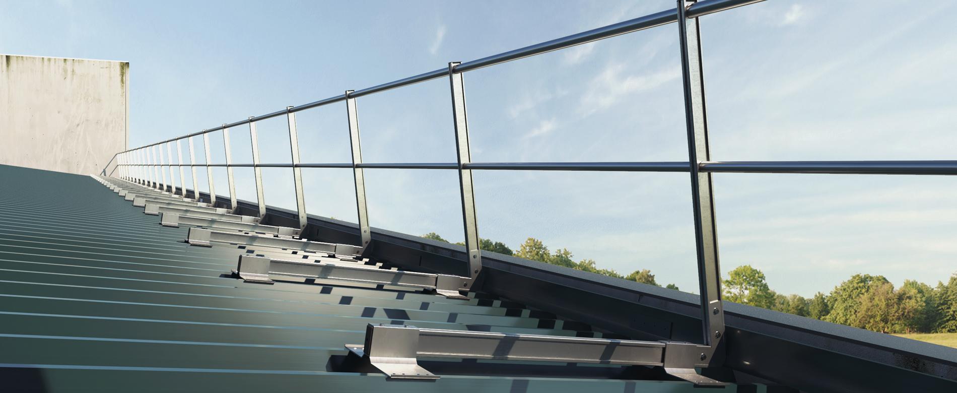 Altezza Dei Parapetti limit system parapetto in alluminio con fissaggio su lamiera
